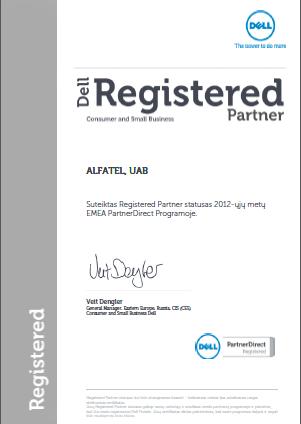 ALFATEL UAB - registruotas DELL partneris