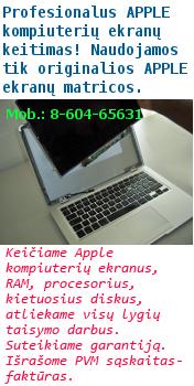 Apple ekranų keitimas