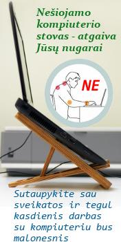 Ergonomiškas nešiojamo kompiuterio stovas