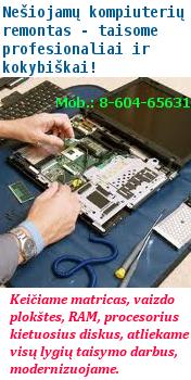 Nešiojamų kompiuterių profesionalus remontas
